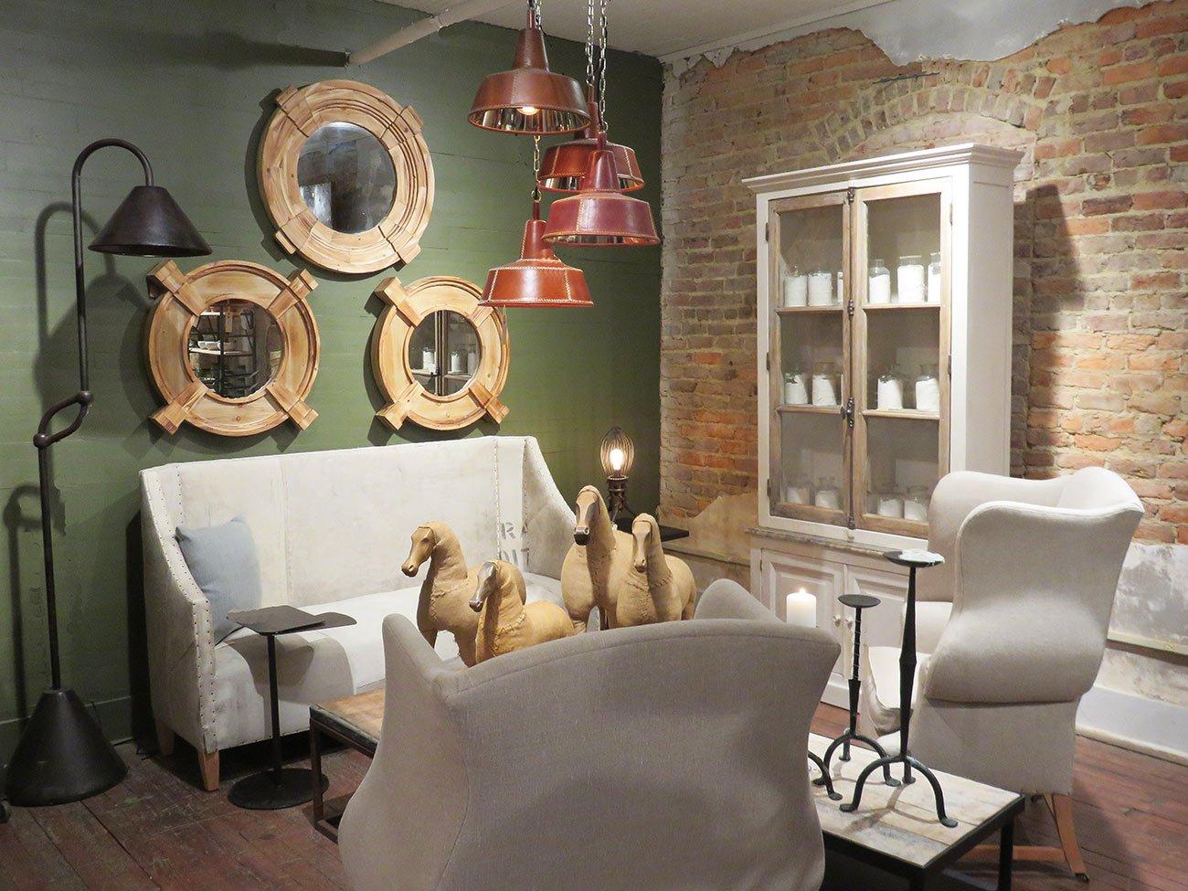 round wood wall mirrors