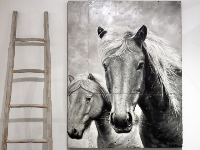 Horse Portrait Wall Painting