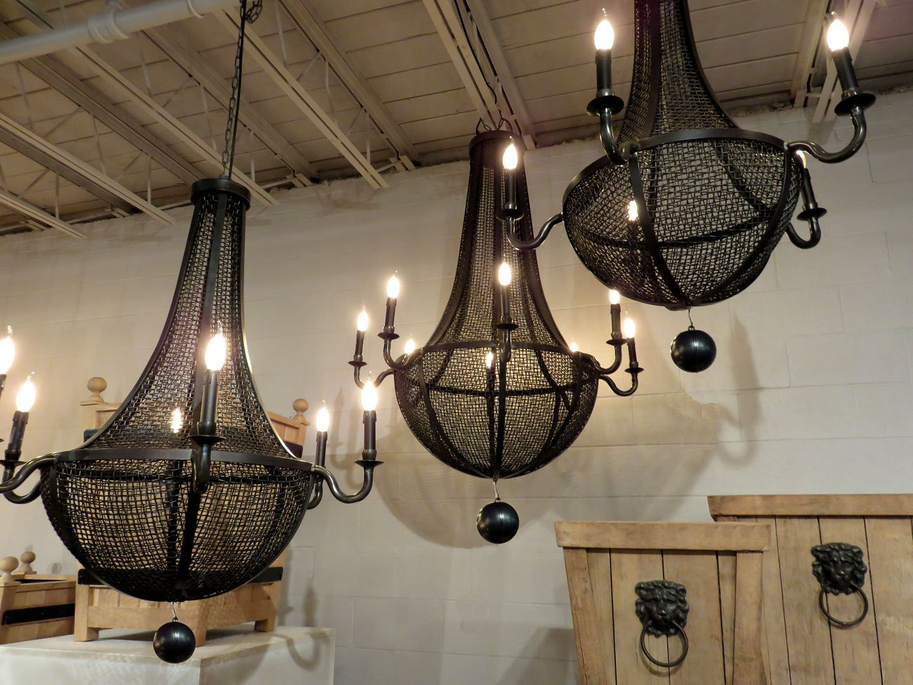 Iron Wire Mesh Chandelier Hudson Goods Blog