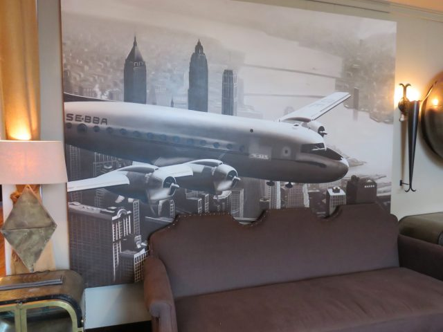 New York City Airplane Oil Painting