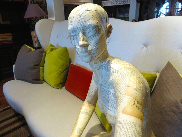 Upholstered White Linen Sofa