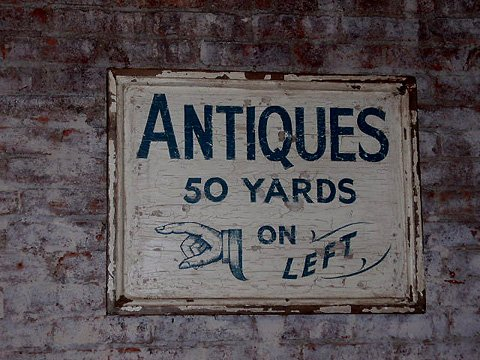 Antique woodworking signs