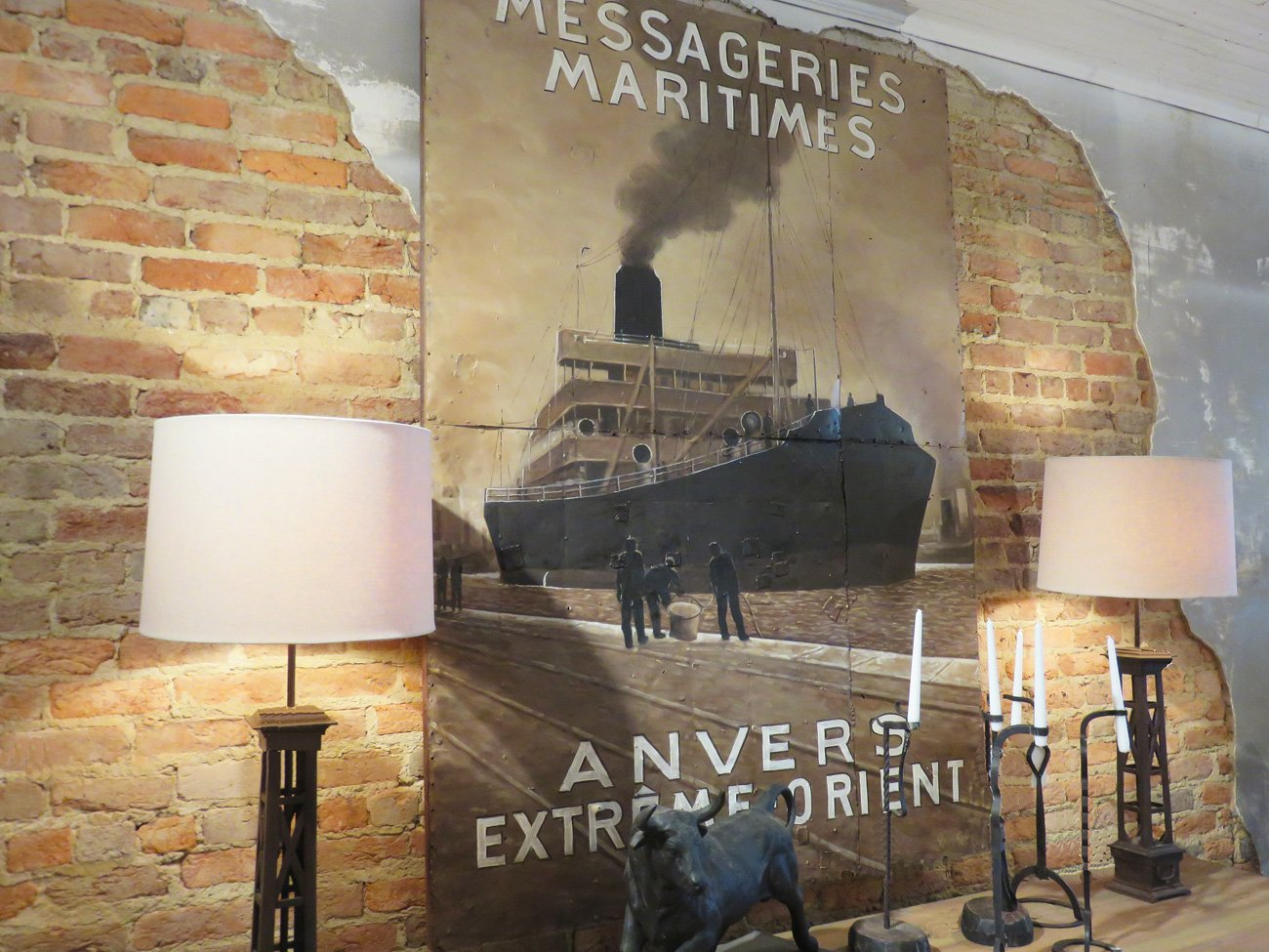 Messageries Maritimes postcard art