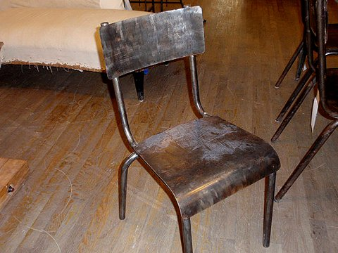 All metal vintage industrial chair - Vintage Metal Chairs - Hudson Goods Blog