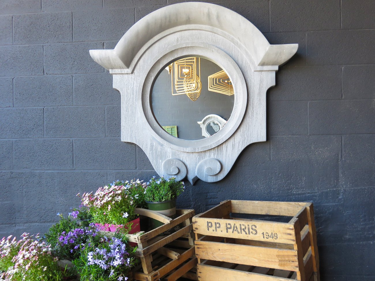 large mansard wall mirror