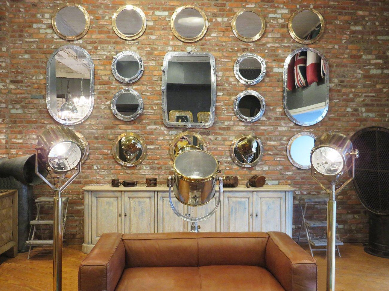 vintage porthole wall mirrors