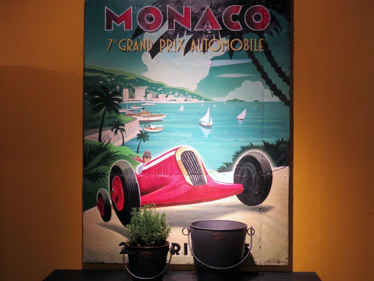 Monaco grand prix artwork