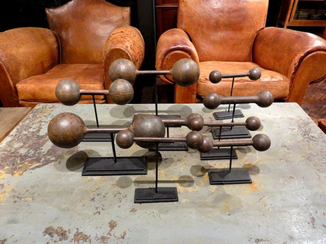 Vintage Iron Dumbbell Set