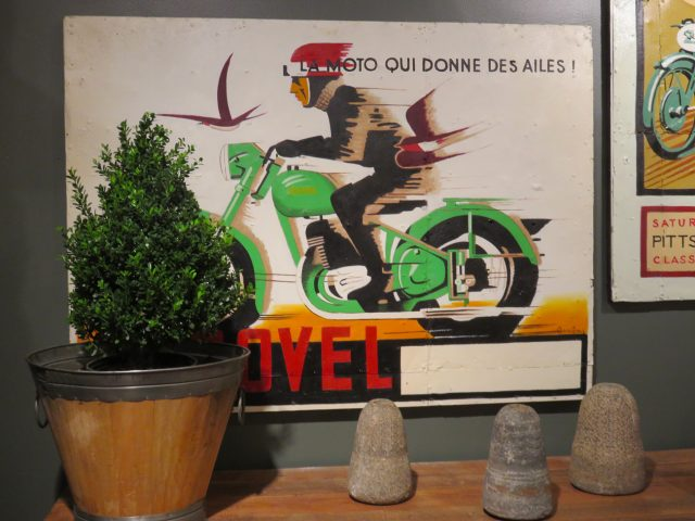 Vintage Motorcycle Wall Painting
