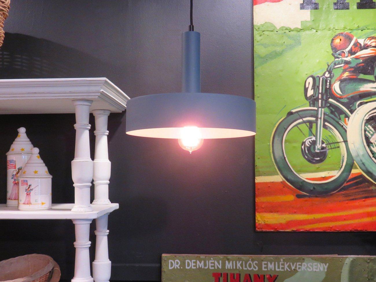 grey metal pendant light