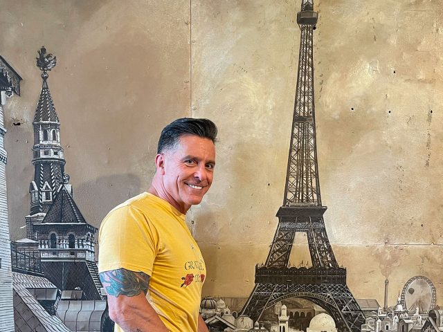 Eiffel Tower Wall Painting