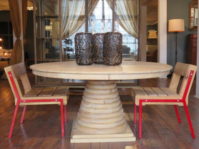 Solid Wood Pine Dining Table