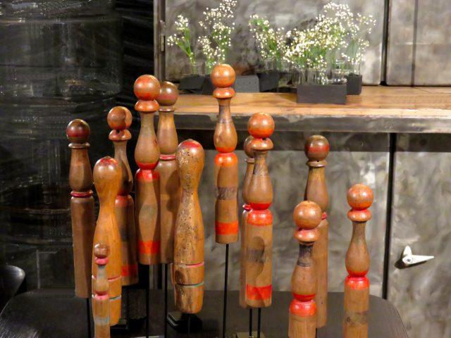 Vintage Wood Bowling Pins