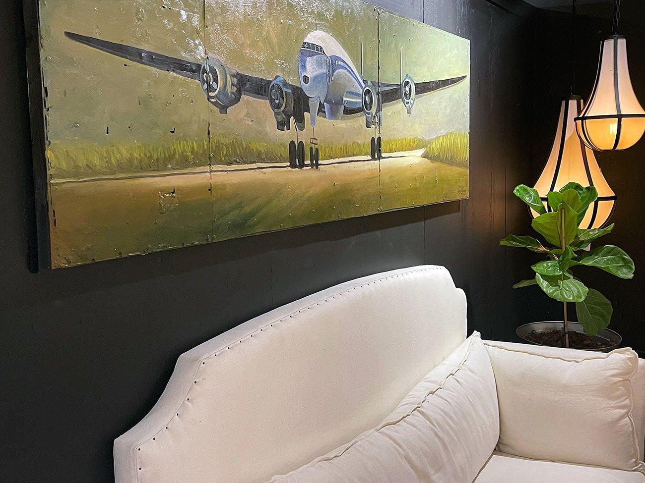 vintage jet wall art