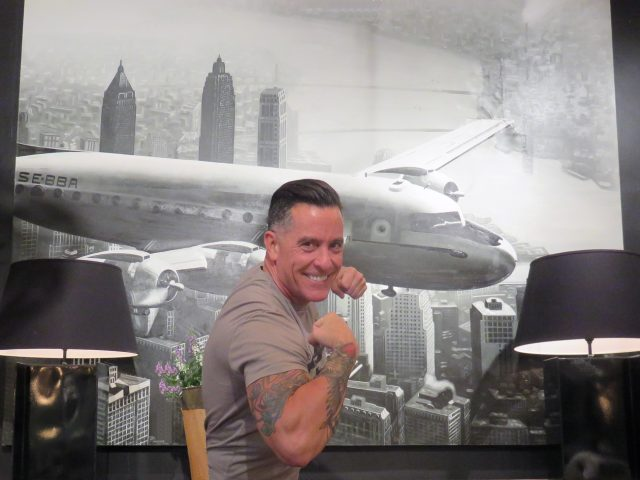 Flying Plane Wall Painting