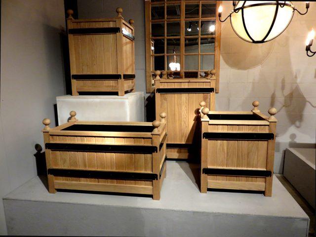 Oak Wood Planter Boxes
