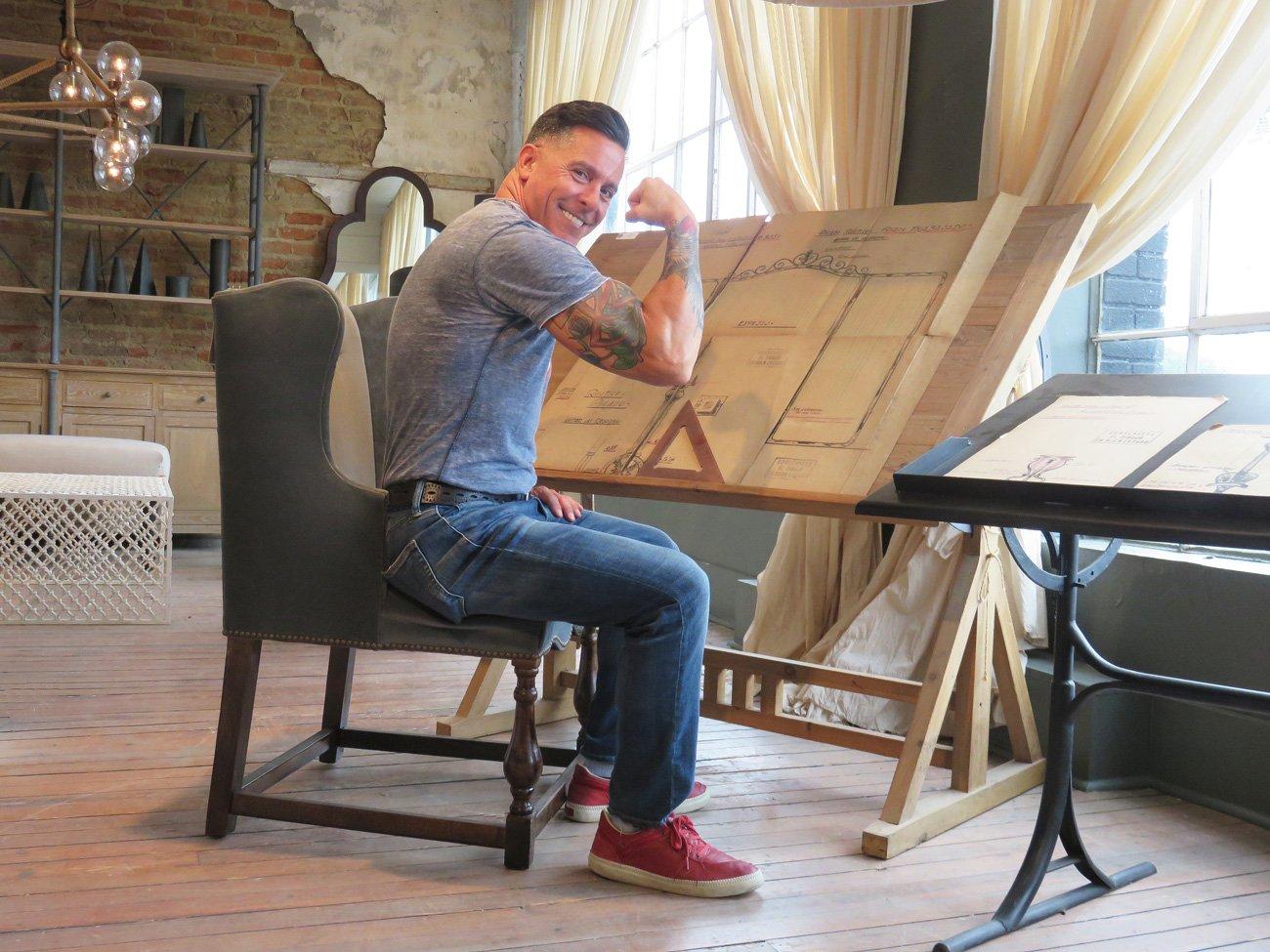 adjustable wood drafting table
