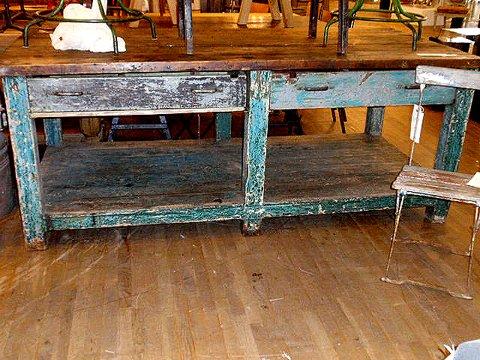 distressed industrial furniture. vintage industrial wood table distressed  furniture s