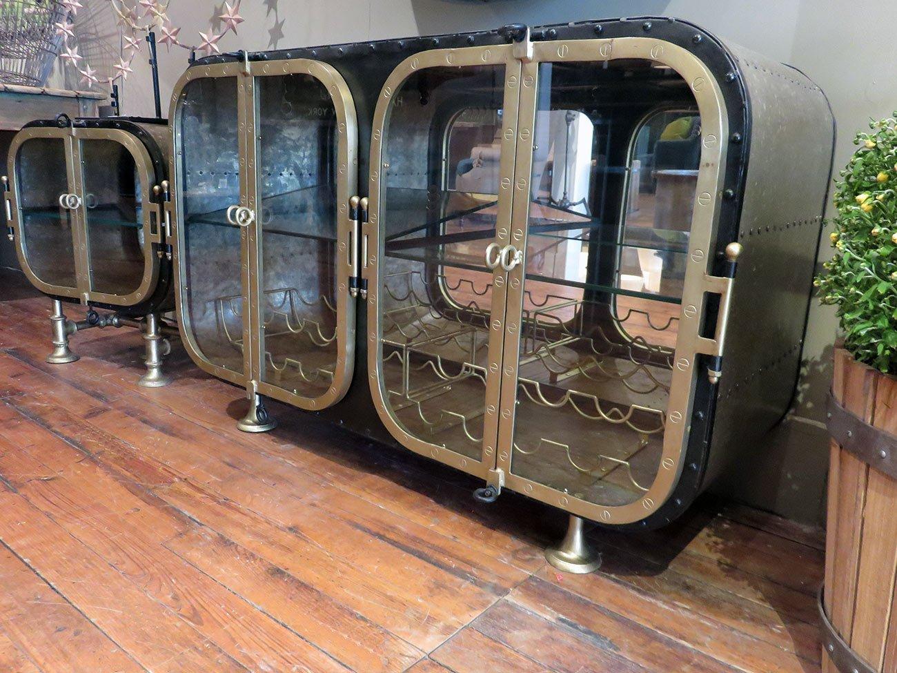 metal steampunk bar console