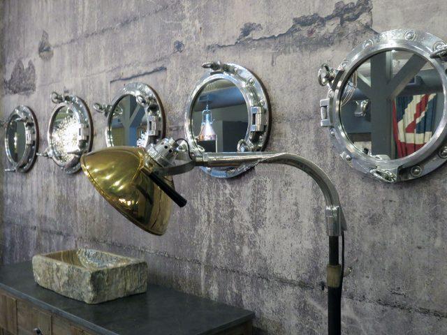 Vintage Porthole Wall Mirror