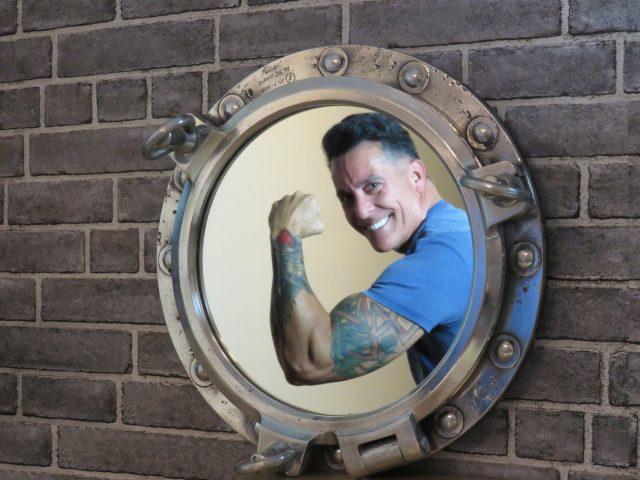 Round Vintage Porthole Mirror