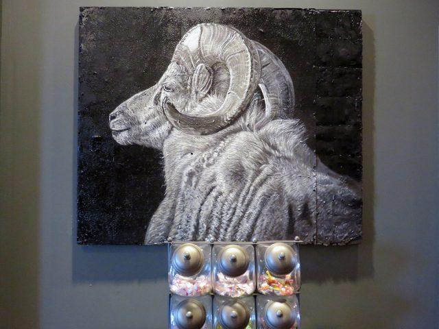 Large Ram Head Painting