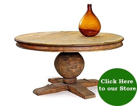 Reclaimed Wood Pedestal Dining Table Hudson Goods Blog - Wood pedestal dining table