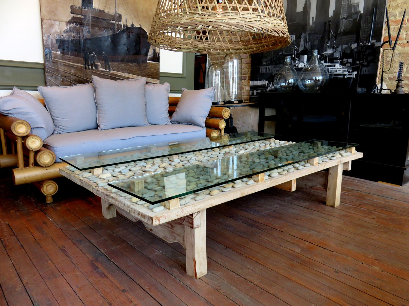 natural stone coffee table