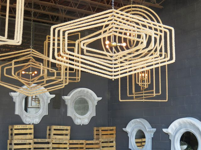 Geometric Shape Rope Chandeliers