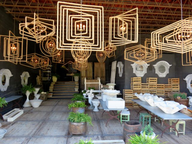 Geometric Natural Rope Chandeliers