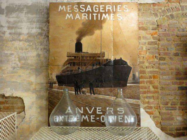 Vintage Steamship Oil Painting