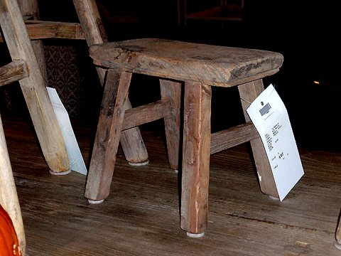 And small wood stools - Reclaimed Wood Spindle Table And Stools - Hudson Goods Blog