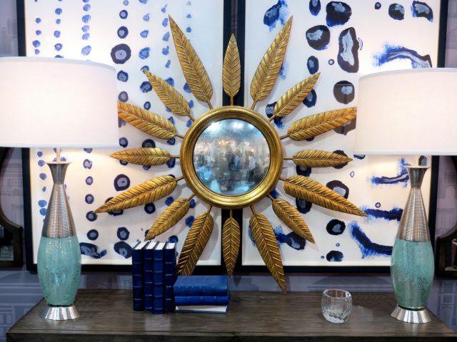 Round Midcentury Sunburst Mirror