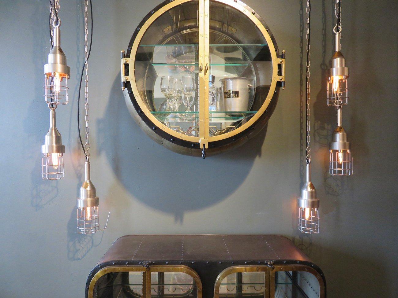 vintage steampunk bar cabinet