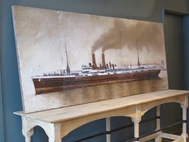 Vintage Steam Ship Wall Painting