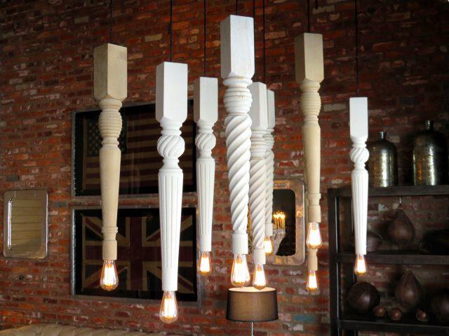 Wood Table Leg Pendants