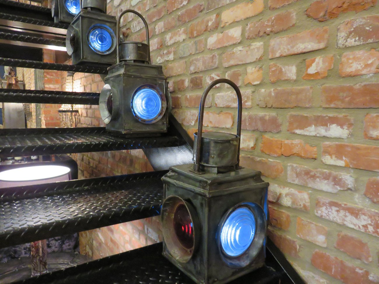 vintage black metal lanterns