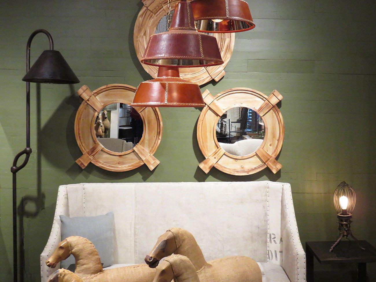 wood keystone wall mirrors