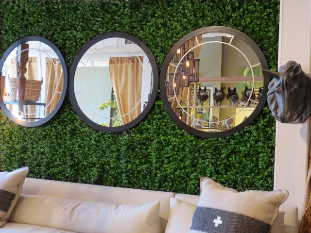 Round Etched Glass Wall Mirrors