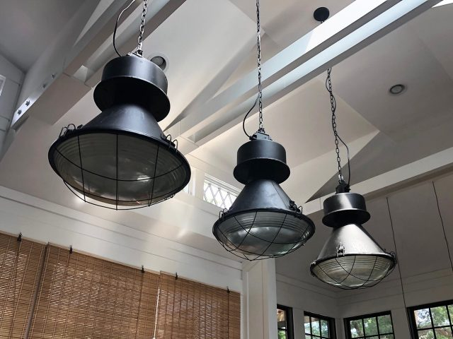 Vintage Black Warehouse Pendants