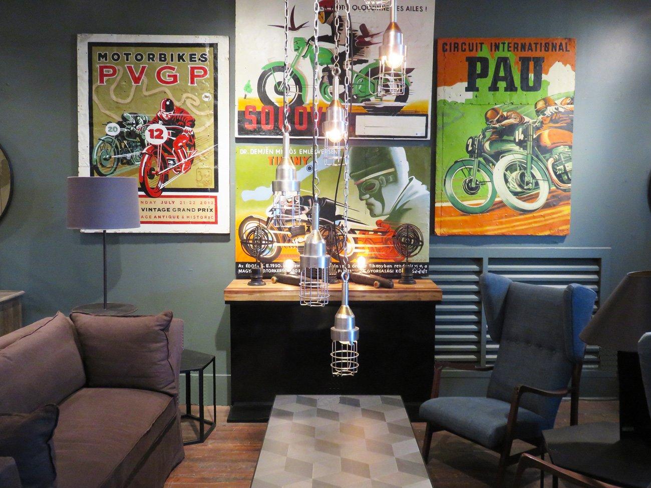 vintage motorbike wall paintings