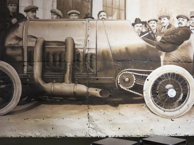 Vintage Car Wall Painting
