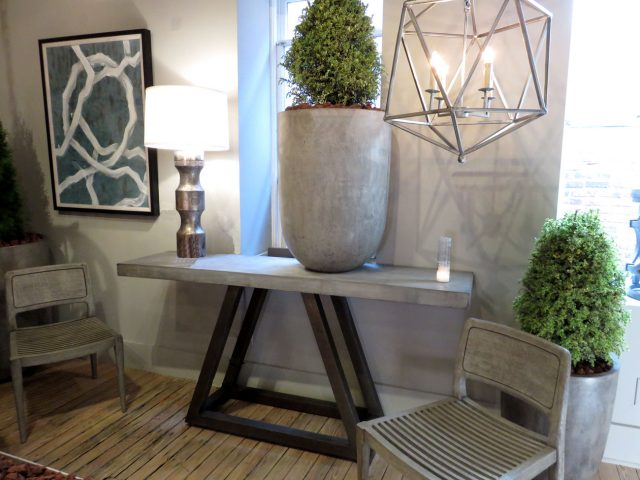 Concrete Stone Console Table