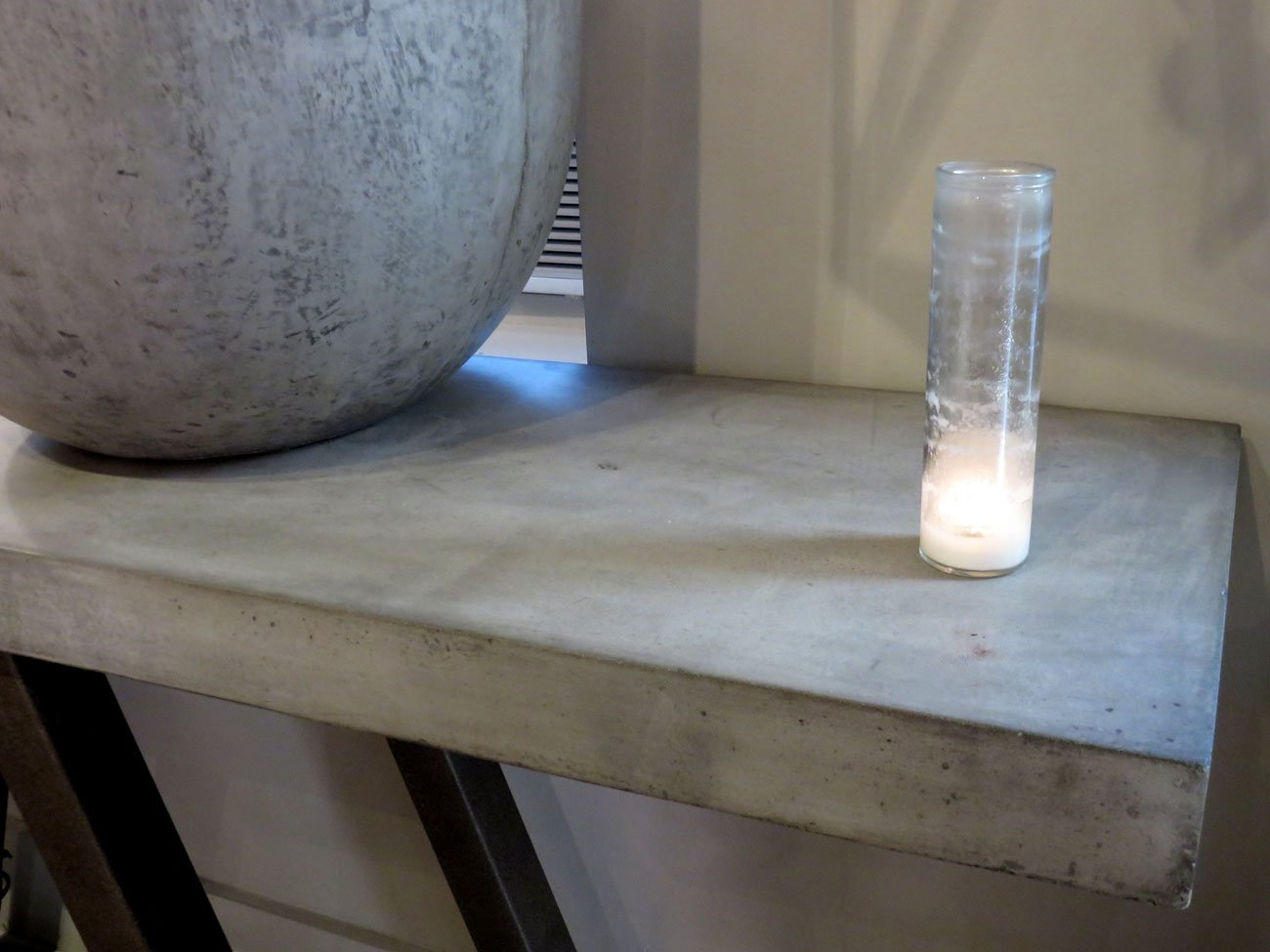 concrete stone console table