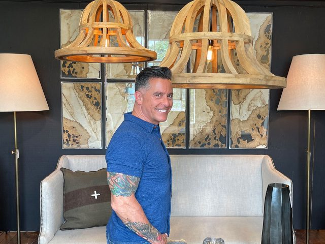 Natural Wood Bell Chandeliers