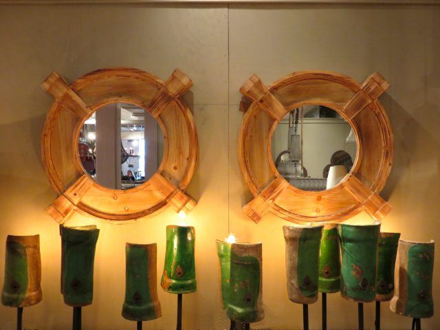 Round Reclaimed Wood Wall Mirrors