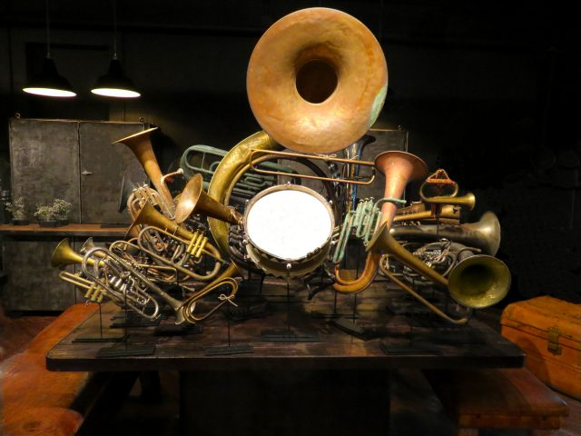 Vintage Marching Band Instruments