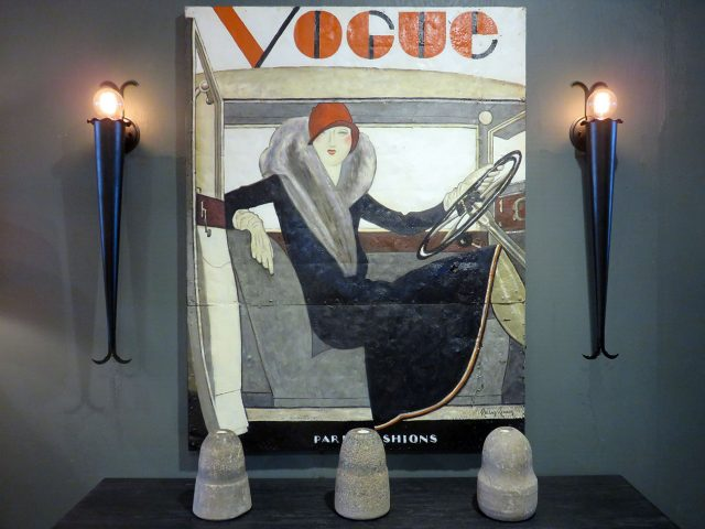 Vintage Vogue Wall Painting