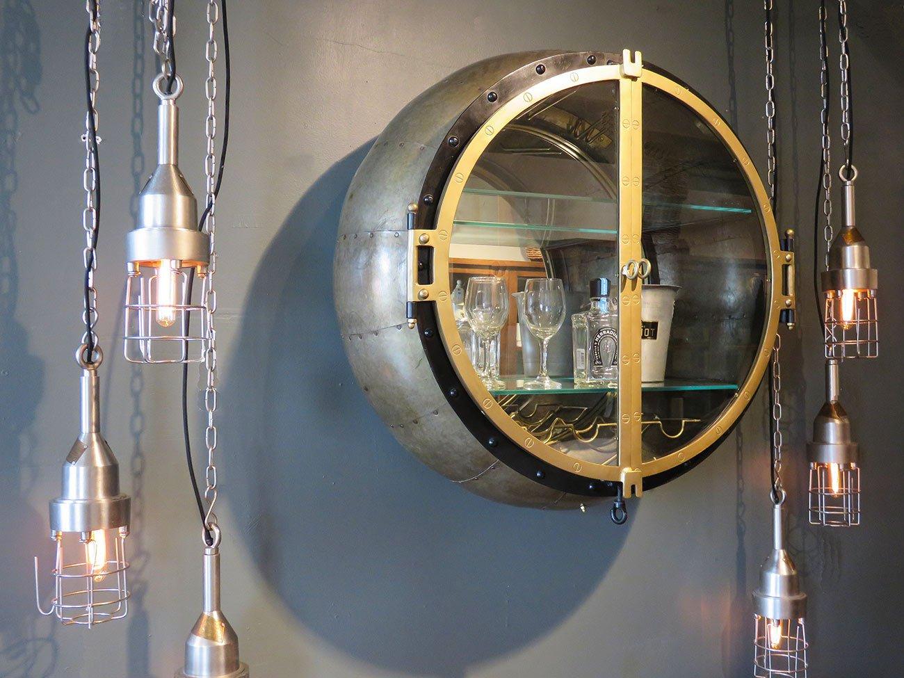 metal steampunk bar cabinet