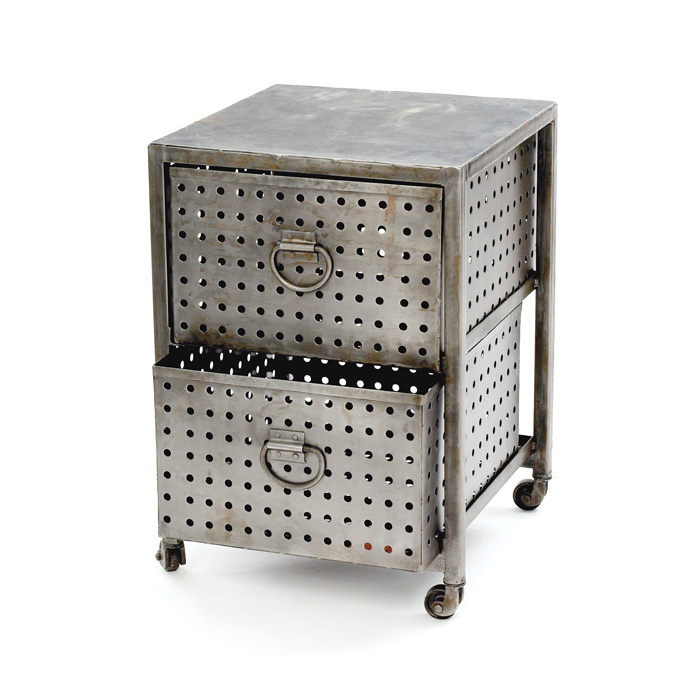 Industrial Bin End Table